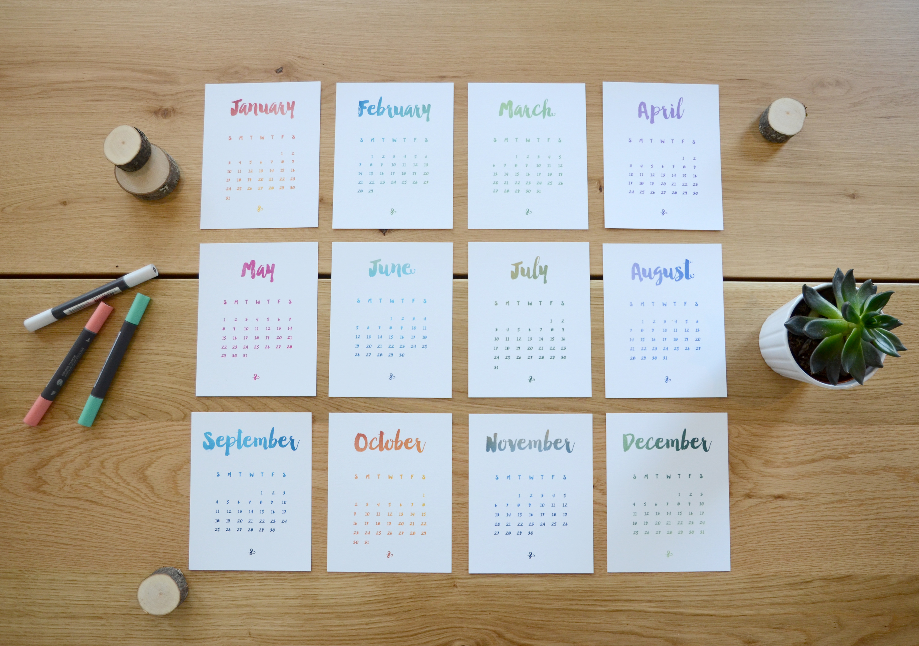 Desk Calendar – Laura Lefurgey-Smith UX Design Portfolio